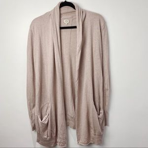 Aritzia Wilfred blush duster cardigan